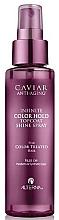 Düfte, Parfümerie und Kosmetik Farbschutzspray für coloriertes Haar mit schwarzem Kaviarextrakt - Alterna Caviar Anti-Aging Infinite Color Hold Topcoat Shine Spray