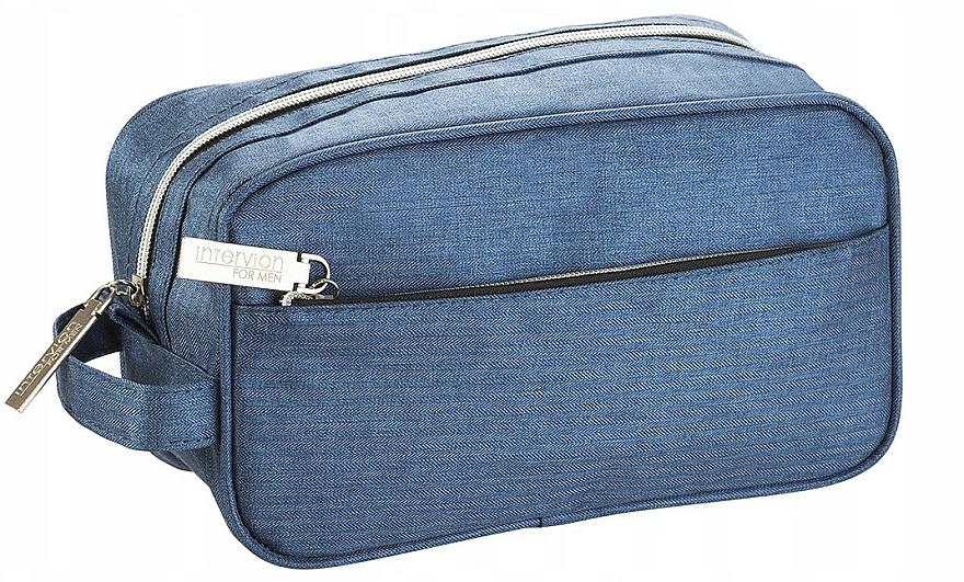 Kosmetiktasche für Männer blau - Inter-Vion