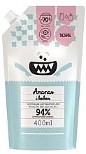 Düfte, Parfümerie und Kosmetik Antibakterielle Flüssigseife für Kinder mit Ananas und Kokosnuss - Yope (Doypack)