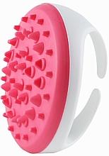 Düfte, Parfümerie und Kosmetik Anti-Cellulite Massagebürste für den Körper aus Silikon weiß-rosa - Deni Carte