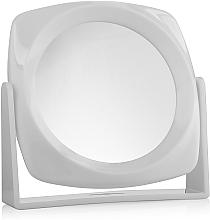 Düfte, Parfümerie und Kosmetik Doppelseitiger Kosmetikspiegel weiß 18x18 cm - Titania