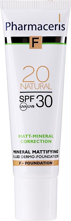 Getöntes mattierendes Gesichtsfluid SPF 30 - Pharmaceris F Mineral Mattifying Fluid Dermo-Foundation SPF 30 — Bild N3