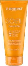Düfte, Parfümerie und Kosmetik Wasserfeste Sonnenschutzmilch für Körper und Gesicht SPF 25 - La Biosthetique Soleil Emulsion SPF 25