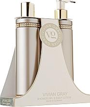 Düfte, Parfümerie und Kosmetik Körperpflegeset - Vivian Gray Brown Crystals Set (Duschgel 250ml + Körperlotion 250ml)