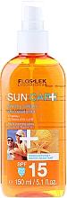 Trockenes Sonnenschutzöl-Spray für Körper und Haar SPF 15 - Floslek Sun Care Dry Oil Tanning Spray SPF15 — Bild N1