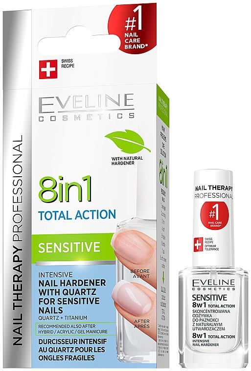 Konzentrierter Nagelhärter mit Quartz - Eveline Cosmetics Nail Therapy Professional Sensitive