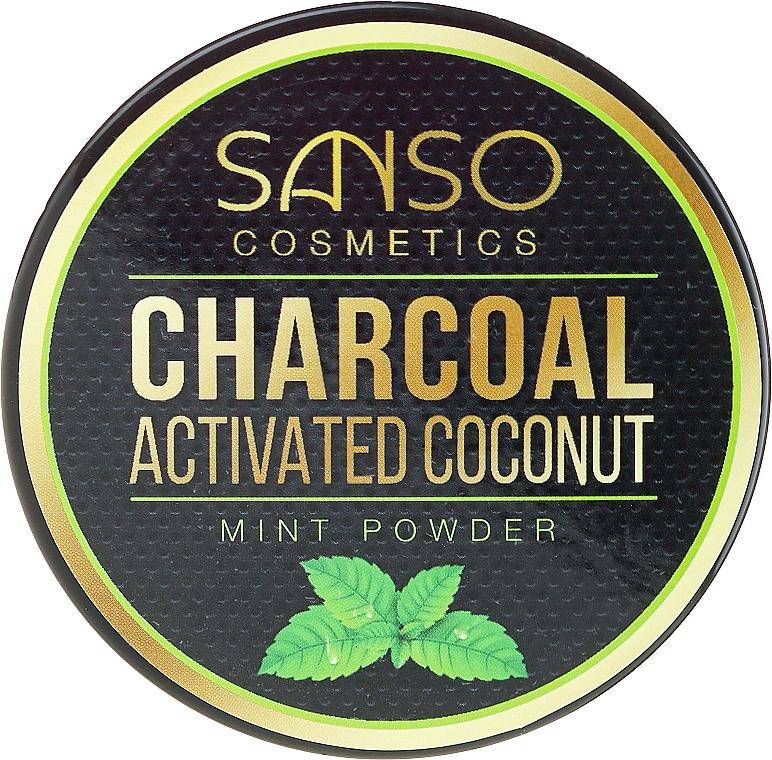 Natürliches aufhellendes Zahnpulver mit Aktivkohle und Minze - Sanso Cosmetics Charcoal Activated Coconut Mint Powder