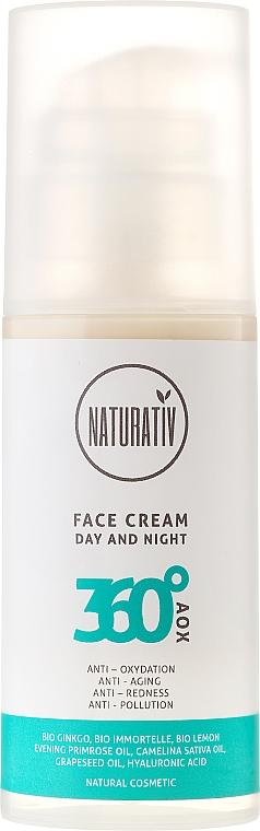 Antioxidative Anti-Aging Gesichtscreme gegen Rötungen - Naturativ 360° AOX Facial Cream For Day & Night