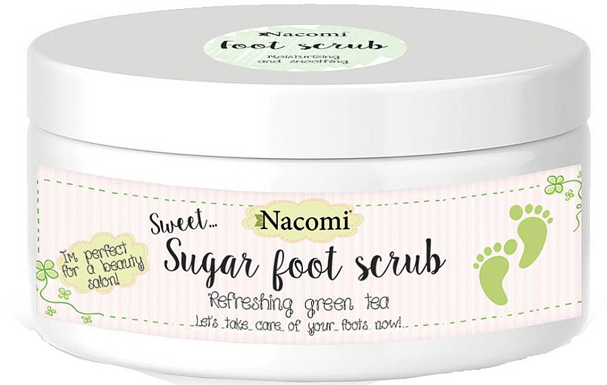 Zucker Fußpeeling mit grünem Tee - Nacomi Sugar Foot Peeling