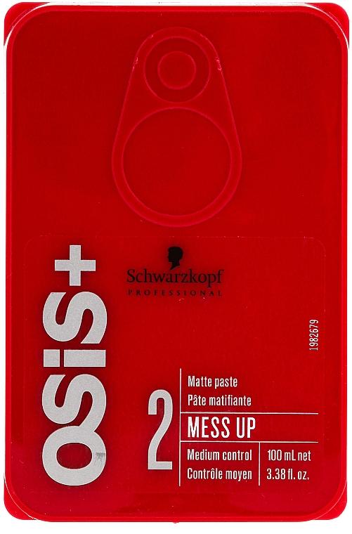 Mattierendes Haarwachs für mittleren Halt - Schwarzkopf Professional Osis+ Mess Up Matt Gum