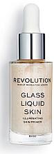 Düfte, Parfümerie und Kosmetik Flüssiger Gesichtsserum-Primer - Makeup Revolution Glass Liquid Skin Primer Serum