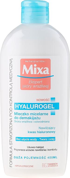 Intensiv feuchtigkeitsspendende Gesichtsreinigungsmilch für dehydrierte und empfindliche Haut - Mixa Hydrating Hyalurogel Milk