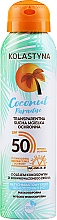 Düfte, Parfümerie und Kosmetik Transparenter trockener Sonnenschutznebel für Körper und Gesicht SPF 50 - Kolastyna Coconut Paradise SPF50