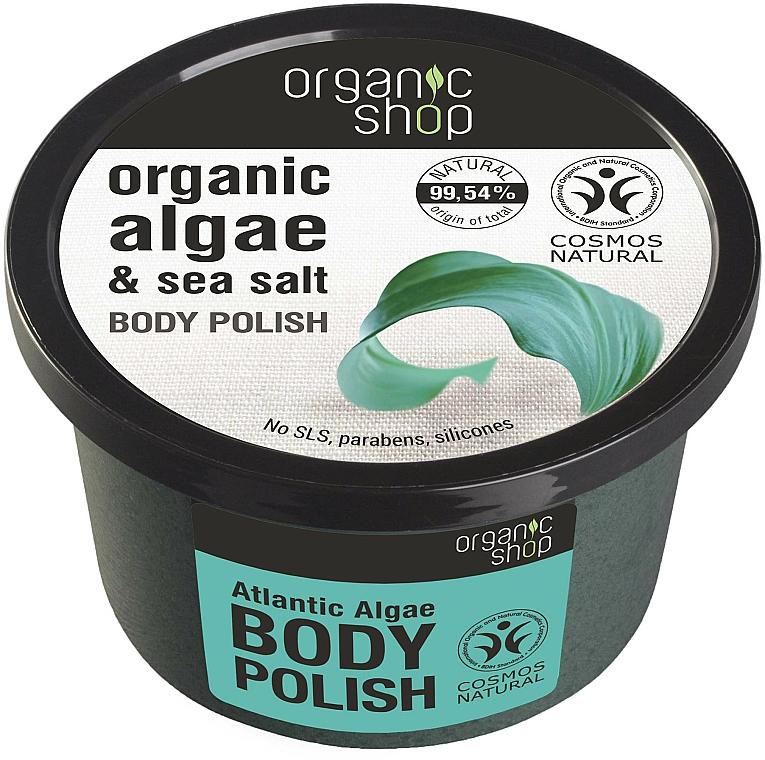 Körperpeeling mit Bio Algenextrakt und Meersalz - Organic Shop Body Scrub Organic Algae & Sea Salt