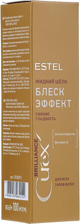 Flüssige Seide für mehr Haarglanz - Estel Professional Curex Brilliance Silk