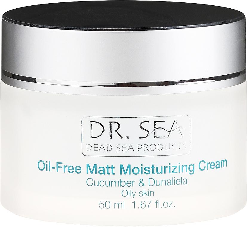 Mattierende und feuchtigkeitsspendende Gesichtscreme mit Gurkenextrakt und Dunaliella - Dr. Sea Oil-Free Matt Moisturizing Cream — Bild N2