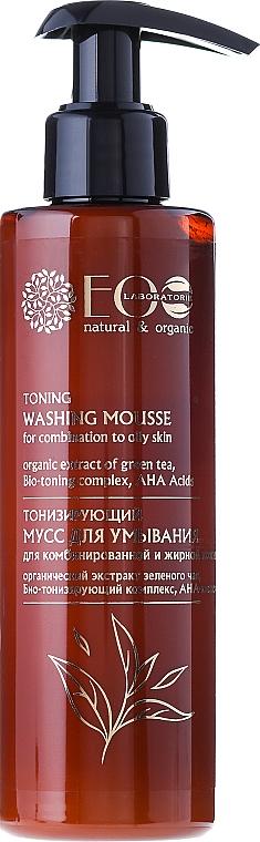 Tonisierende Gesichtsreinigungsmousse für fettige und Mischhaut mit AHA-Säuren - ECO Laboratorie Toning Washing Mousse