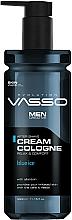 Düfte, Parfümerie und Kosmetik After Shave Creme Blue Ice - Vasso Professional Men After Shave Cream Cologne Blue Ice