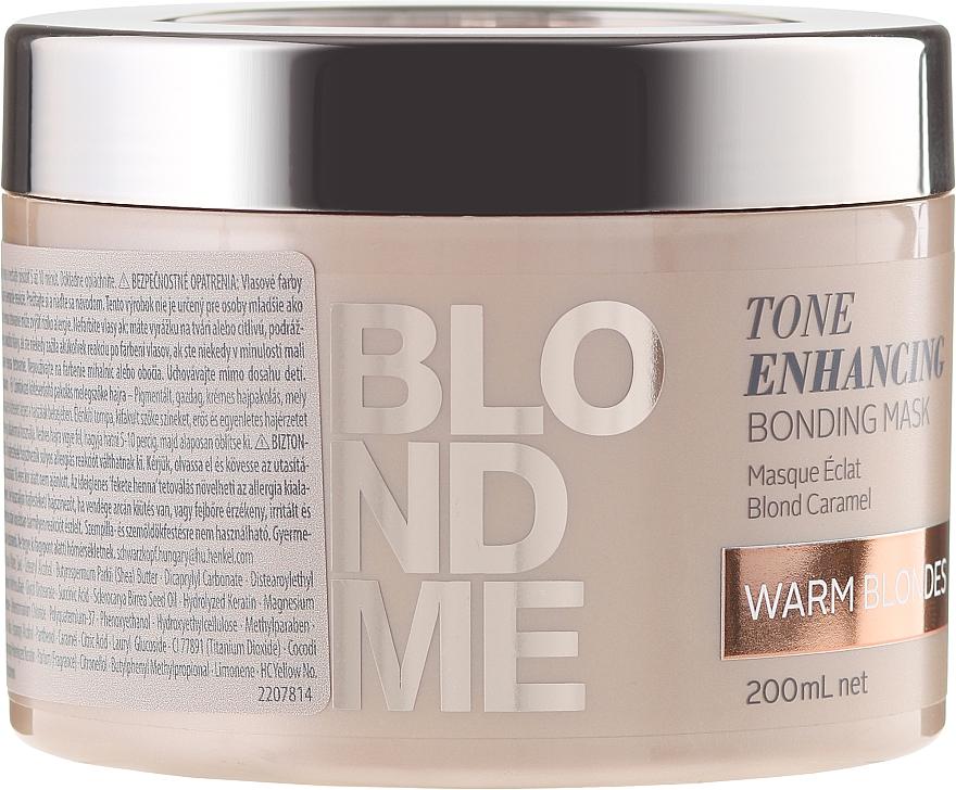 Aufbauende Intensivkur für warme Blondtöne - Schwarzkopf Professional Blondme Tone Enhancing Bonding Mask Warm Blondes — Bild N1