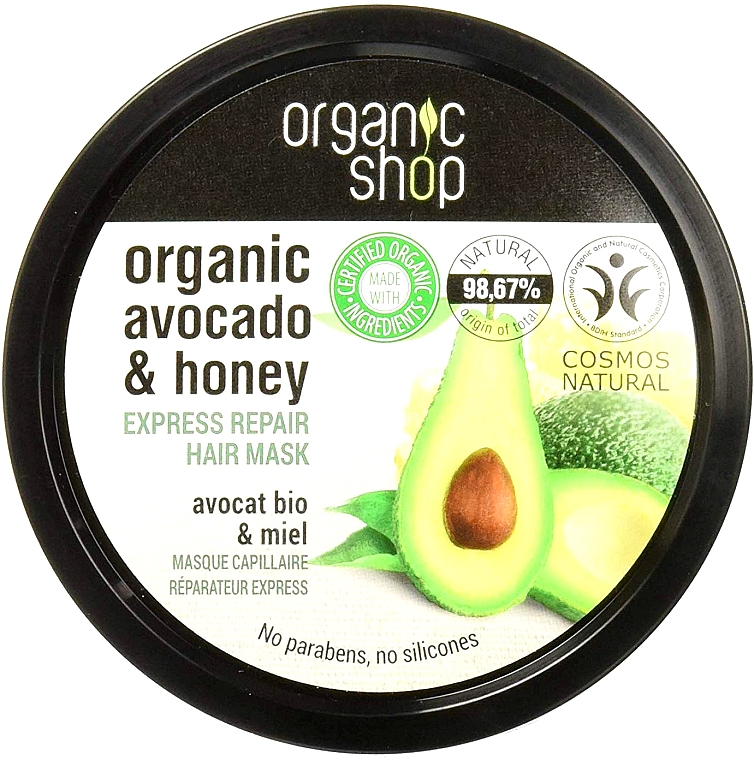 Avocado Honig Haarmaske - Organic Shop Organic Avocado and Honey Hair Mask