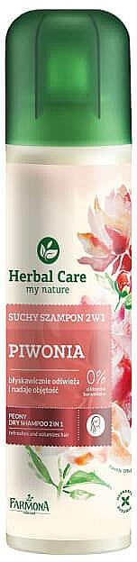 2in1 Erfrischendes Trockenshampoo für mehr Volumen mit Pfingstrose - Farmona Herbal Care