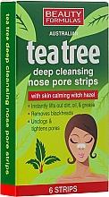 Düfte, Parfümerie und Kosmetik Tiefenreinigende Nasenporenstreifen mit Teebaum - Beauty Formulas Tea Tree Deep Cleansing Nose Pore Strips