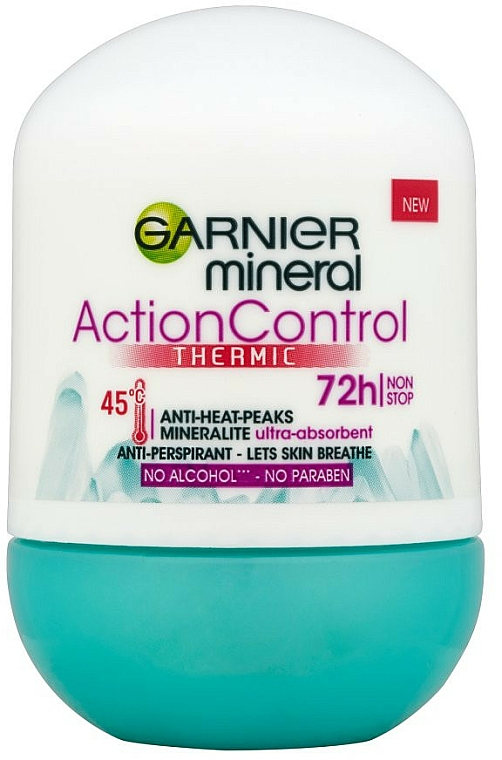 Deo Roll-on Antitranspirant - Garnier Mineral Action Control Thermic 72h Deodorant
