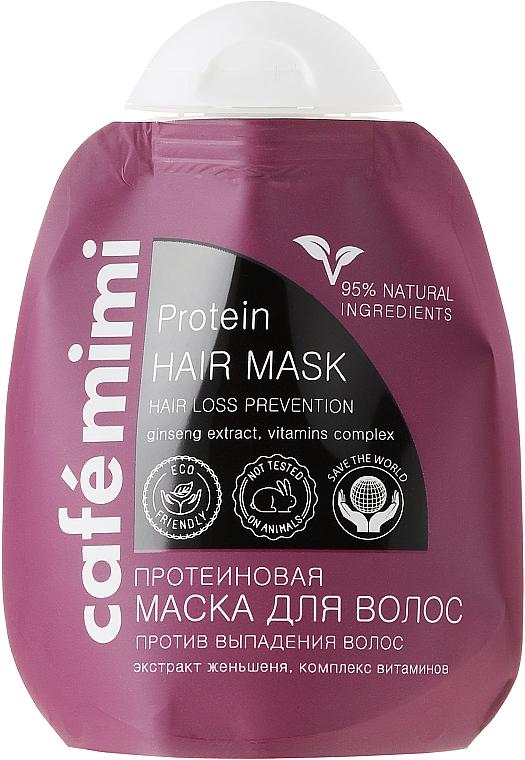 Haarmaske gegen Haarausfall mit Proteinen, Vitaminkomplex und Ginsengextrakt - Le Cafe de Beaute Cafe Mimi Protein Hair Mask