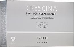 Düfte, Parfümerie und Kosmetik Anti-Haarausfall Ampullen für Frauen 1700 - Crescina Hair Follicular IslandRe-Growth+Anti-Hair Loss HFI 1700 Woman