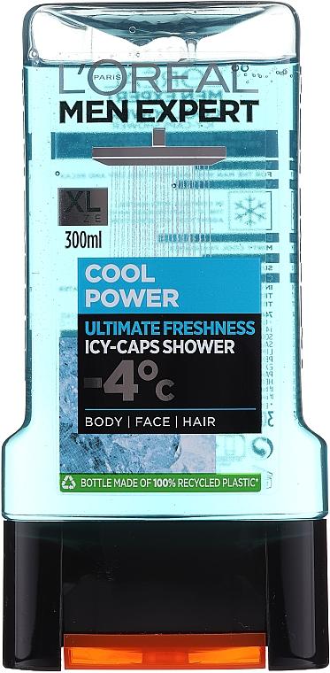Duschgel - L'Oreal Paris Men Expert Cool Power Icy-Caps Shower