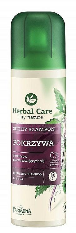 Trockenshampoo für fettiges Haar mit Brennnesselextrakt - Farmona Herbal Care Shampoo