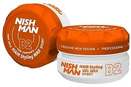 Düfte, Parfümerie und Kosmetik Haarstyling-Gel B2 - Nishman Hair Styling Gel Wax B2 Sport