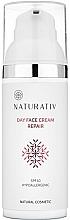 Düfte, Parfümerie und Kosmetik Reparierende Anti-Aging Tagescreme für Gesicht und Hals - Naturativ Day Face Cream Repair SPF 10